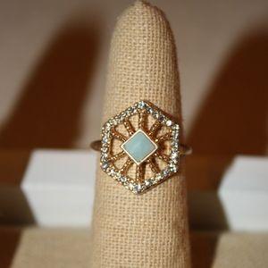Portico Hexagon Ring